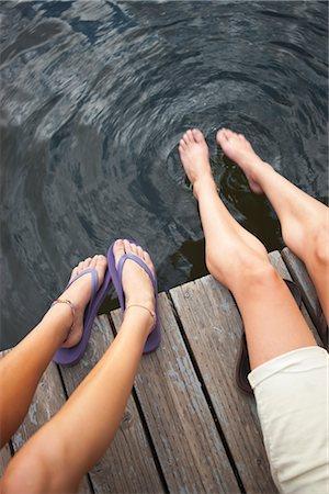 female 16 year old feet - Two Teenage Girls Sitting on Dock, Near Portland, Oregon, USA Stock Photo - Premium Royalty-Free, Code: 600-03210546