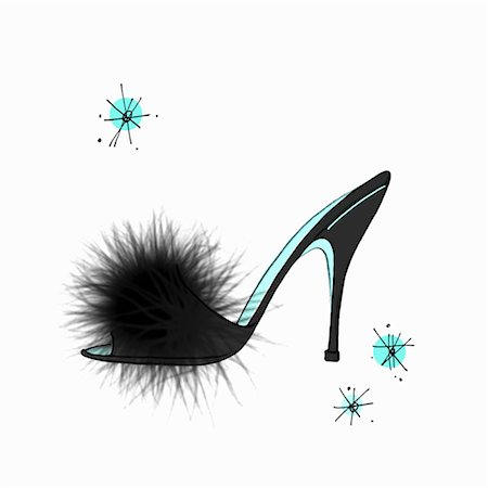 Illustration of Vintage Slipper Stock Photo - Premium Royalty-Free, Code: 600-03210563