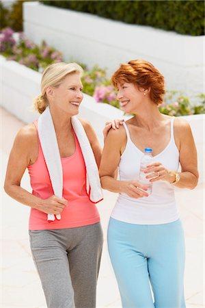 Two Women Exercising Stock Photo - Premium Royalty-Free, Code: 600-03227497