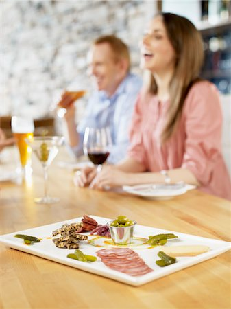 Close-up of Appetizer at Wine Bar, Toronto, Ontario, Canada Stock Photo - Premium Royalty-Free, Code: 600-03230249