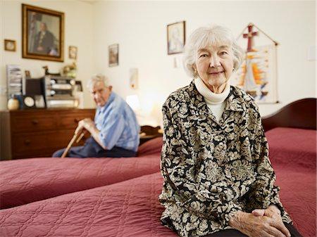 Elderly Couple in Retirement Home Stock Photo - Premium Royalty-Free, Code: 600-03230265