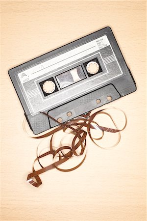 Unspooled Cassette Tape Stock Photo - Premium Royalty-Free, Code: 600-03230420