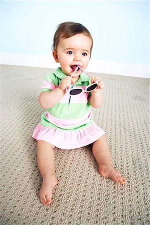 Baby Girl with Sunglasses Stock Photo - Premium Royalty-Free, Code: 600-03265820