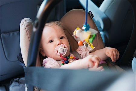 Baby Girl in Car Seat Stock Photo - Premium Royalty-Free, Code: 600-03284222