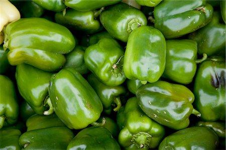 Organic Green Peppers, Penticton, Okanagan Valley, British Columbia, Canada Stock Photo - Premium Royalty-Free, Code: 600-03294794