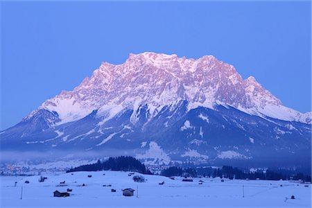 small town snow - View of Zugspitze. Ehrwald, Tyrol, Austria Stock Photo - Premium Royalty-Free, Code: 600-03297798