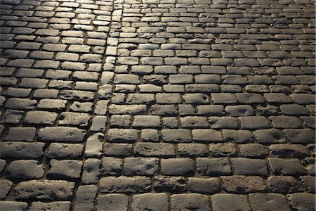 Detail of Cobblestone Road, Heidelberg, Baden-Wurttemberg, Germany Stock Photo - Premium Royalty-Free, Code: 600-03297805