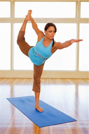 Woman Practicing Yoga Stock Photo - Premium Royalty-Free, Code: 600-03368469