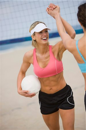 Women Playing Volleyball Stock Photo - Premium Royalty-Free, Code: 600-03368484