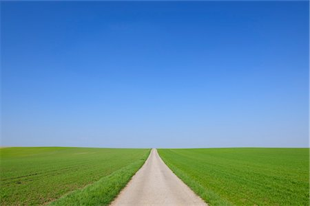 earth no people - Path Through Fields in Spring, Halbturn, Burgenland, Austria Stock Photo - Premium Royalty-Free, Code: 600-03361631