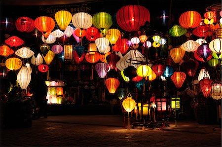 Lanterns, Hoi An, Quang Nam Province, Vietnam Stock Photo - Premium Royalty-Free, Code: 600-03404686