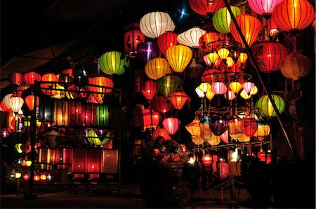 Lanterns, Hoi An, Quang Nam Province, Vietnam Stock Photo - Premium Royalty-Free, Code: 600-03404687