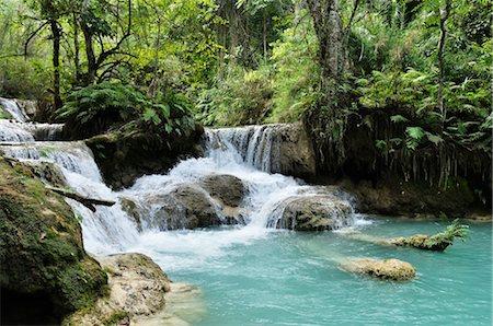 stream - Tat Kuang Si Waterfall, Luang Prabang, Louangphabang Province, Laos Stock Photo - Premium Royalty-Free, Code: 600-03404693