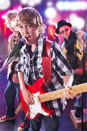 Boys in Rock Band Stock Photo - Premium Royalty-Free, Code: 600-03404714