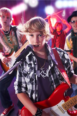 Boys in Rock Band Stock Photo - Premium Royalty-Free, Code: 600-03404715