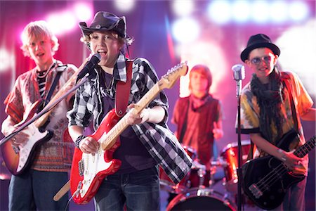 Boys in Rock Band Stock Photo - Premium Royalty-Free, Code: 600-03404716
