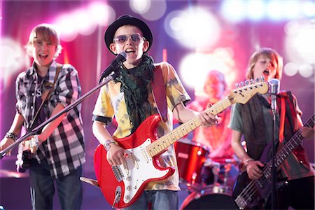 Boys in Rock Band Stock Photo - Premium Royalty-Free, Code: 600-03404717