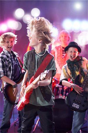 Boys in Rock Band Stock Photo - Premium Royalty-Free, Code: 600-03404718