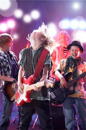Boys in Rock Band Stock Photo - Premium Royalty-Free, Code: 600-03404719