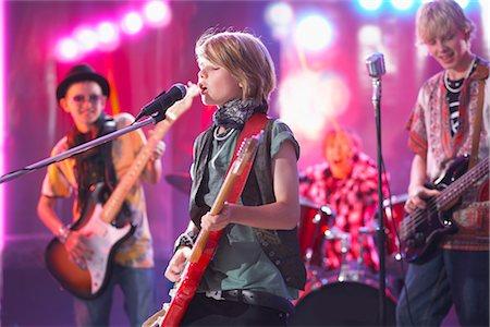 Boys in Rock Band Stock Photo - Premium Royalty-Free, Code: 600-03404710
