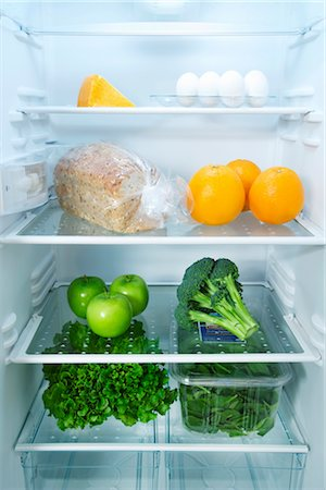 fridge - Fridge with Healthy Food Stock Photo - Premium Royalty-Free, Code: 600-03406350