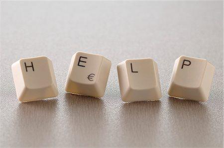 Computer Keys Spelling HELP Stock Photo - Premium Royalty-Free, Code: 600-03407536