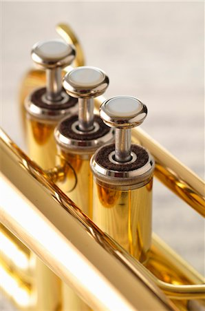 Close-up of Trumpet Valves Stock Photo - Premium Royalty-Free, Code: 600-03407540