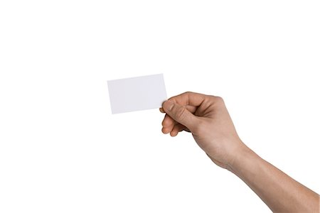 Person Holding Blank Card Stock Photo - Premium Royalty-Free, Code: 600-03403782