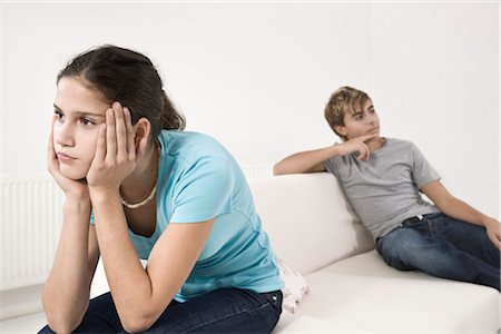 Teenage Couple Having Argument Stock Photo - Premium Royalty-Free, Code: 600-03403993