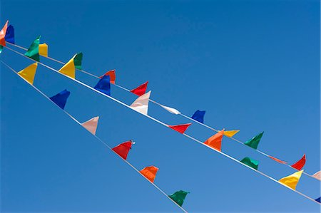 pennant flag - Colourful Flags Stock Photo - Premium Royalty-Free, Code: 600-03439279