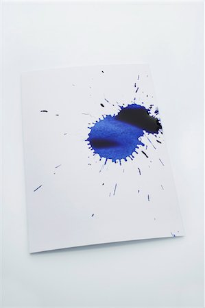 Blue Inkblot Stock Photo - Premium Royalty-Free, Code: 600-03445181