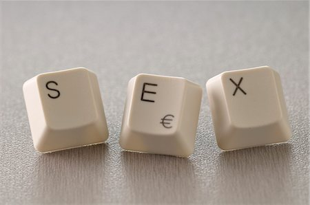 SEX Spelled with Computer Keys Stock Photo - Premium Royalty-Free, Code: 600-03446031