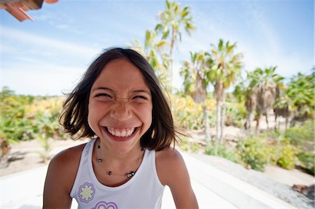 Smiling Girl, Baja, Mexico Stock Photo - Premium Royalty-Free, Code: 600-03446103