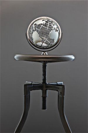 World Globe on Stool Stock Photo - Premium Royalty-Free, Code: 600-03446214