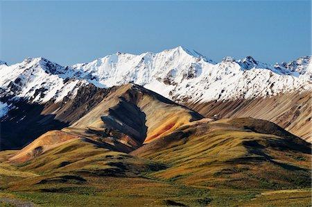 Alaska Range, Denali National Park and Preserve, Alaska, USA Stock Photo - Premium Royalty-Free, Code: 600-03450857