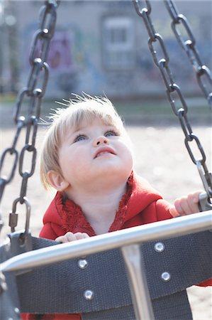 shy baby - Little Girl Playing at Sorauren Avenue Park, Toronto, Ontario, Canada Stock Photo - Premium Royalty-Free, Code: 600-03463210