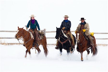 Cowgirl and Cowboys, Shell, Big Horn County, Wyoming, USA Stock Photo - Premium Royalty-Free, Code: 600-03501255
