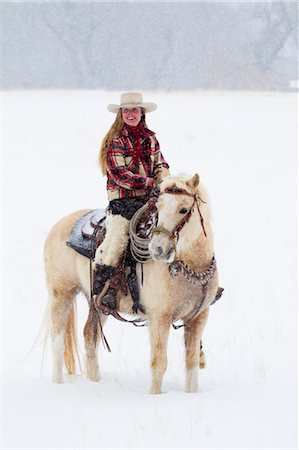 Cowgirl, Shell, Big Horn County, Wyoming, USA Stock Photo - Premium Royalty-Free, Code: 600-03502657