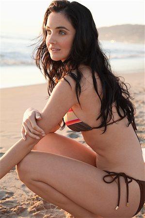 Portrait of Young Woman on Beach, Zuma Beach, California, USA Stock Photo - Premium Royalty-Free, Code: 600-03520707