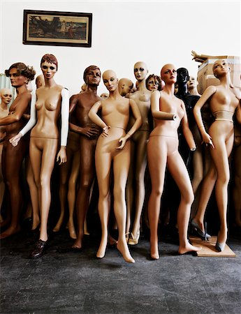 Group of Mannequins Stock Photo - Premium Royalty-Free, Code: 600-03554421