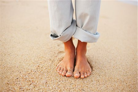Woman's Feet, Baja California Sur, Mexico Stock Photo - Premium Royalty-Free, Code: 600-03586529