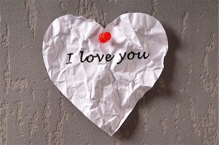 Crumpled Love Note Stock Photo - Premium Royalty-Free, Code: 600-03587139