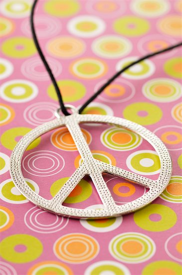 Peace Sign Necklace Stock Photo - Premium Royalty-Free, Artist: Jean-Christophe Riou, Image code: 600-03601395