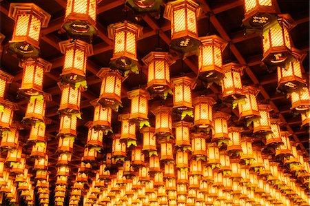 Lanterns, Hakkaku Manpuku Hall, Daisho-in Temple, Hatsukaichi, Hiroshima Prefecture, Chugoku Region, Honshu, Japan Stock Photo - Premium Royalty-Free, Code: 600-03638799