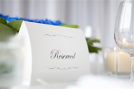 Reserved Sign Stock Photo - Premium Royalty-Free, Code: 600-03644687