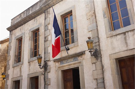 french (places and things) - City Hall, Lagrasse, Aude, Languedoc-Roussillon, France Stock Photo - Premium Royalty-Free, Code: 600-03644825