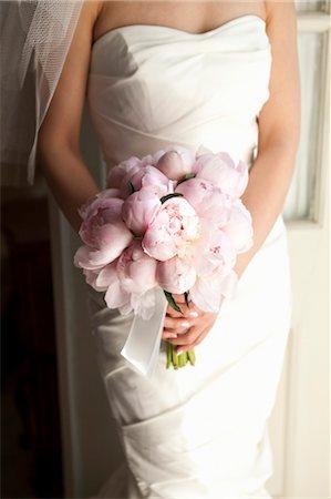 peony - Bride holding Bouquet Stock Photo - Premium Royalty-Free, Code: 600-03644895