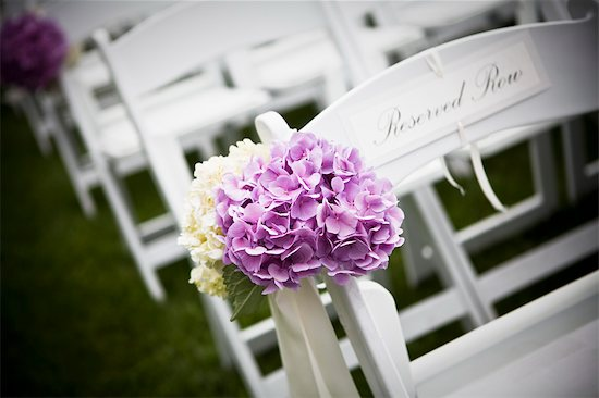 Flowers on Chair at Wedding Stock Photo - Premium Royalty-Free, Artist: Ikonica, Image code: 600-03644892