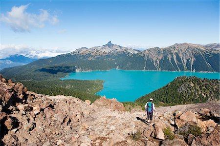 Hiking in Garibaldi Provincial Park, Black Tusk in Background, British Columbia, Canada Stock Photo - Premium Royalty-Free, Code: 600-03641250