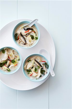Asian Coconut Soup with Chicken Stock Photo - Premium Royalty-Free, Code: 600-03686075